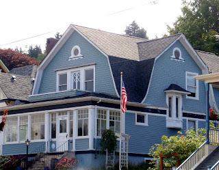 contoh warna cat rumah biru