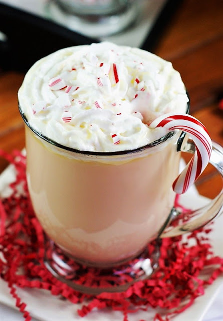 Mug of White Chocolate Peppermint Eggnog Image