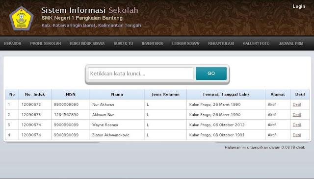Sistem Informasi Sekolah Berbasis Web
