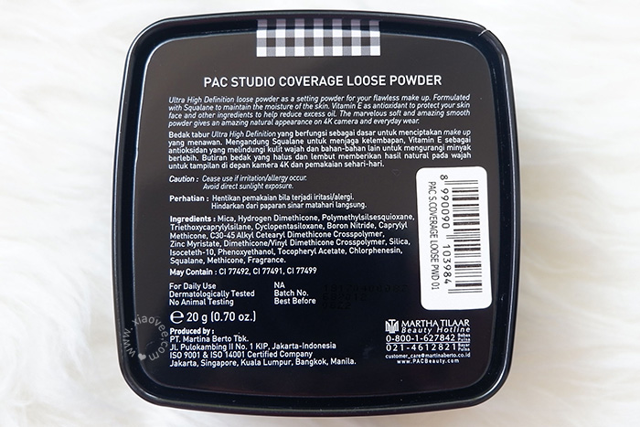 Review PAC Studio Coverage Primer, Review PAC Studio Coverage Foundation, Review PAC Studio Coverage Loose Powder, Review PAC makeup, Review PAC foundation, Review PAC makeup base, Review PAC face primer, Review PAC loose powder, Review PAC bedak tabur, Bedak tabur terbaik, foundation lokal terbaik, face primer terbaik