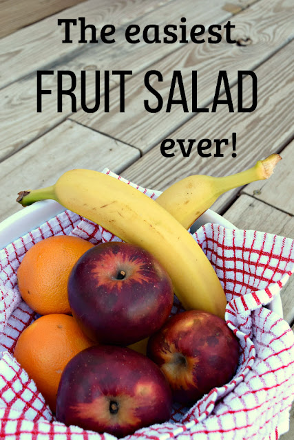 This 5-ingredient fruit salad takes about 5 minutes to make!