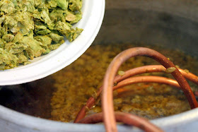 Adding the second dose of flame-out hops to Fortunate Islands
