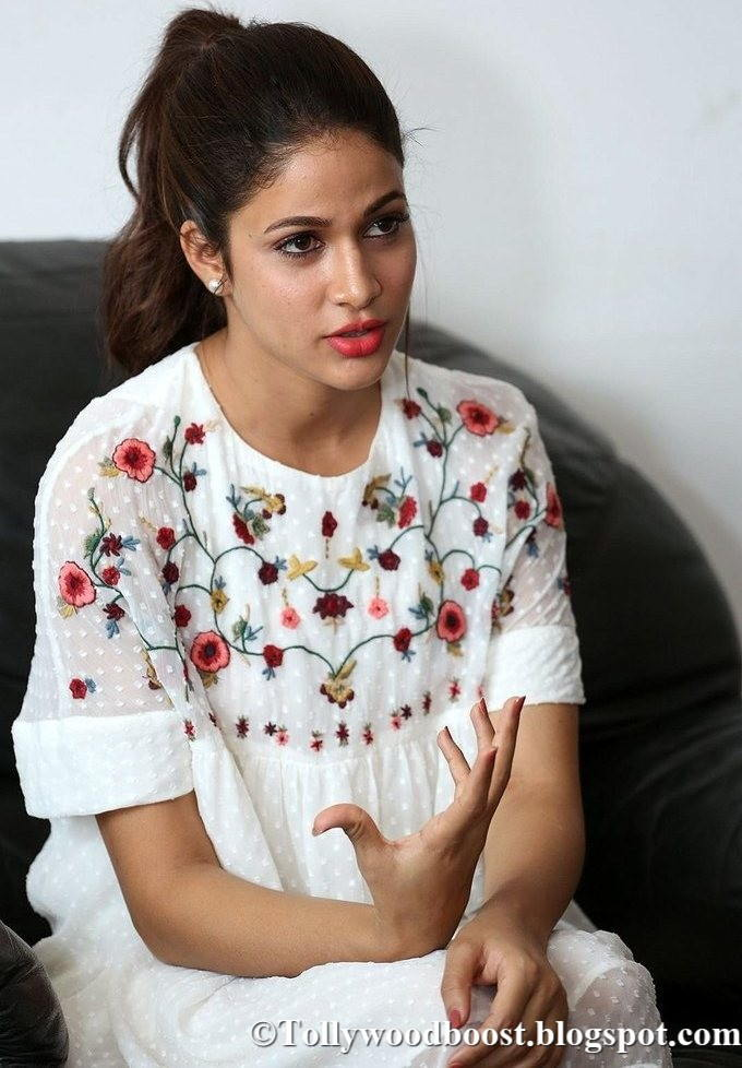 Lavanya Tripathi Beautiful Stills at New Telugu Movie Interview