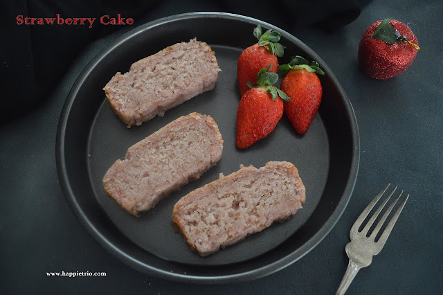 Eggless Strawberry Cake | Eggless and Butterless Strawberry Cake