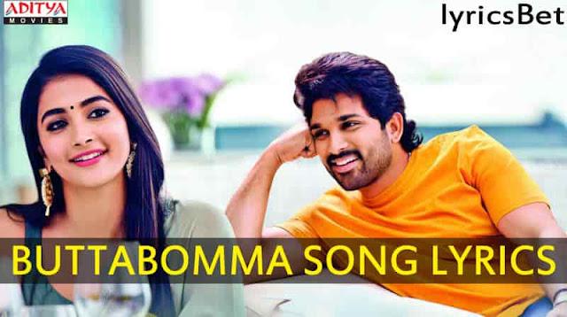 Butta Bomma Song Layrics   Telugu Songs   Allu Arjun   Armaan Malik