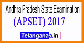 APSET 2017 Notification Eligibility Exam Date  Hall Tickets