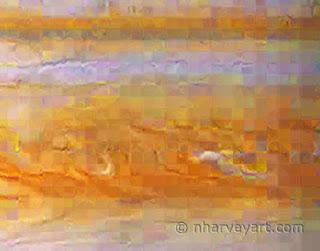 Closeup of pixilation in Jupiter image