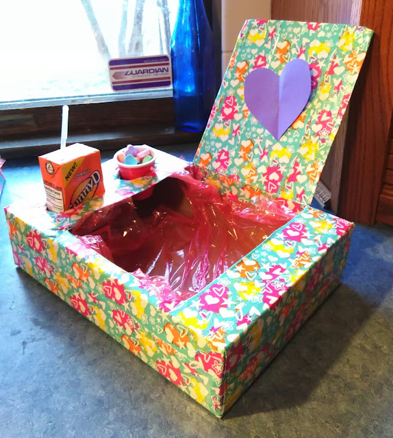 Snack treat box for Valentine's day or movie time.