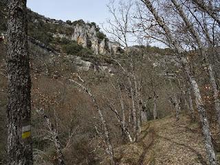 Senda en el desfiladero del río Rudrón