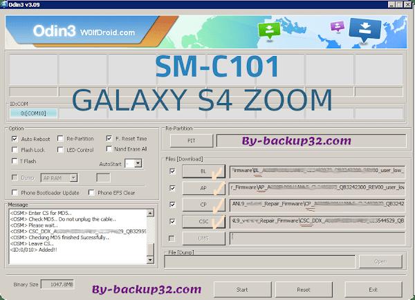 سوفت وير هاتف GALAXY S4 ZOOM موديل SM-C101 روم الاصلاح 4 ملفات تحميل مباشر