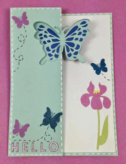 Close To My Heart Artfully Sent Butterfly Swing Card
