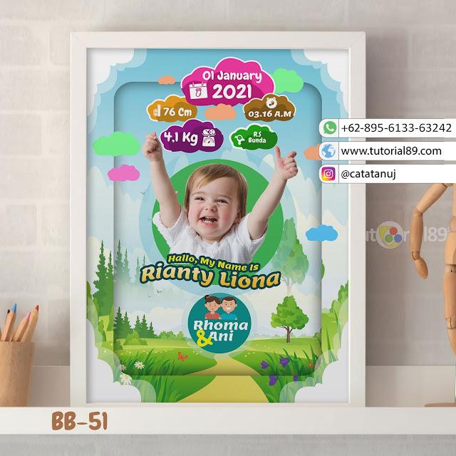 Biodata Bayi Costume Unik Kode BB51 | Taman Hijau