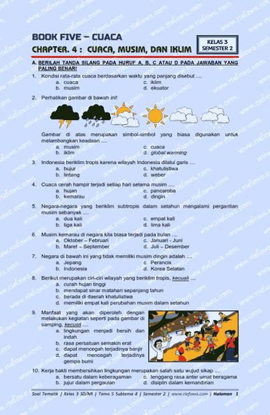 Download Soal Kelas 3 Tema 5 Subtema 4 Kurikulum 2013 Edisi Revisi Terbaru Tahun 2019 2021 Dunia Edukasi