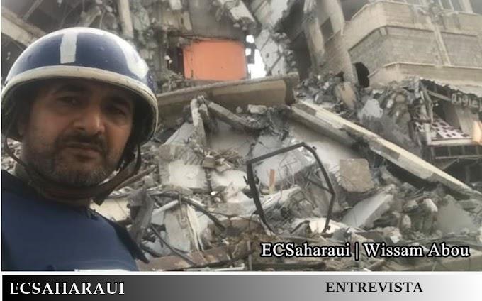 ENTREVISTA   ECSaharaui en Gaza, una batalla no como las demás.