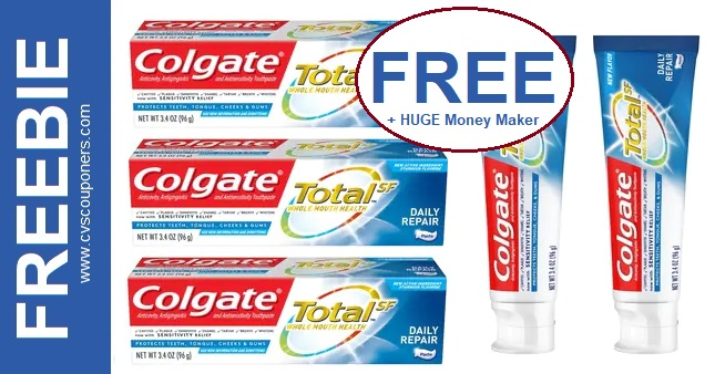 FREE Colgate Total Toothpaste at CVS 7-19-7-25