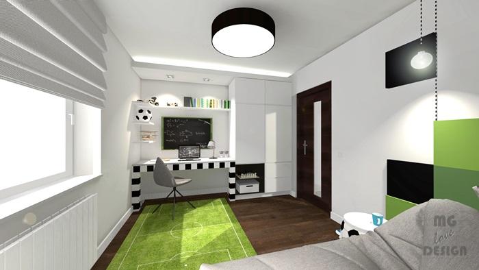 6 Pokój dla chłopca - piłka nożna - architekt wnętrz Nysa Głuchołazy