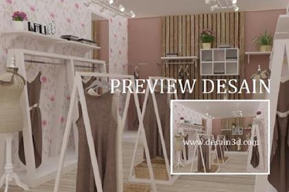 Jasa desain 3d interior butik unik murah berpengalaman