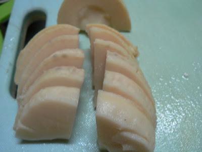 タケノコを切る2