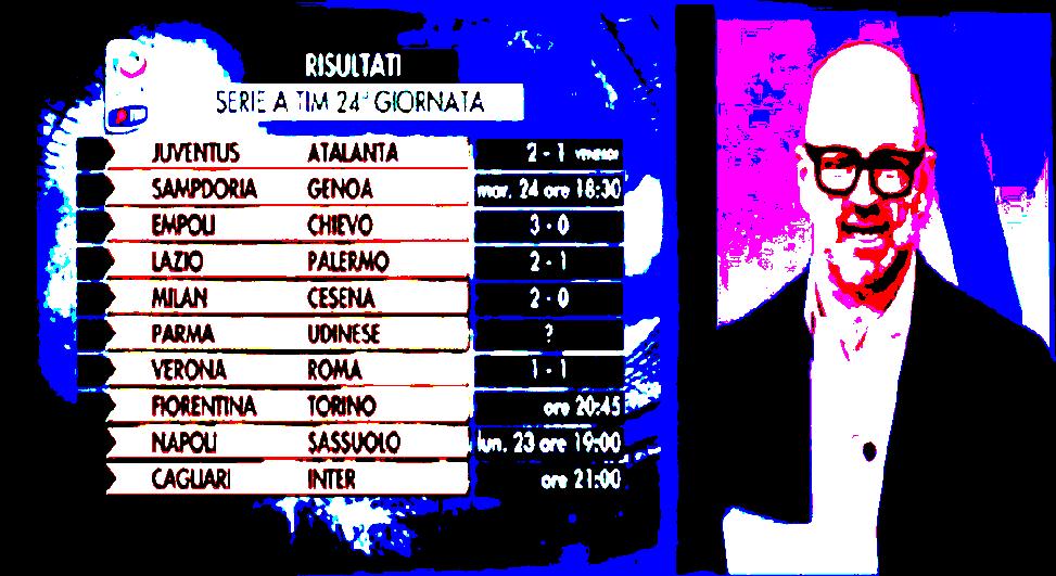 """La 24esima giornata da """"90° minuto Serie A"""". Che calcio è? fotosportnotizie.com"""