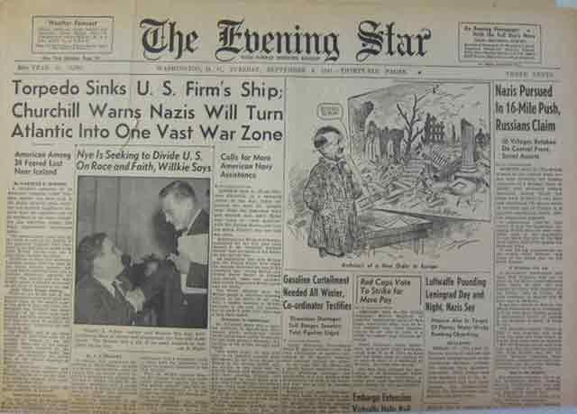 Evening Star 9 September 1941 worldwartwo.filminspector.com