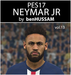 PES 2017 Faces Neymar Jr by BenHussam