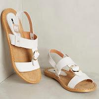 Белые минималистские сандалии