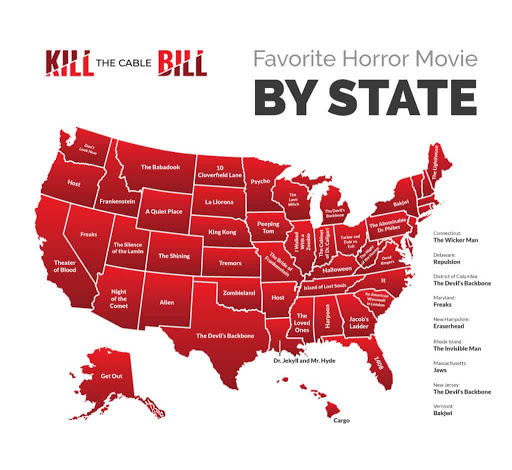 Best Horror Movies: Which Does Each US State Love Most?