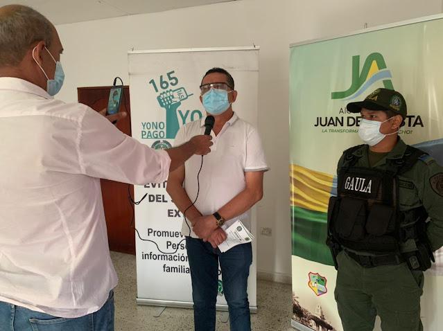 ALCALDÍA DE JUAN DE ACOSTA Y GAULA INTENSIFICA CAMPAÑA DE PREVENCIÓN CONTRA EXTORSIÓN Y EL SECUESTRO.
