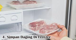 Simpan Daging Di Freezer merupakan salah satu tips menyimpan daging kurban agar tetap segar