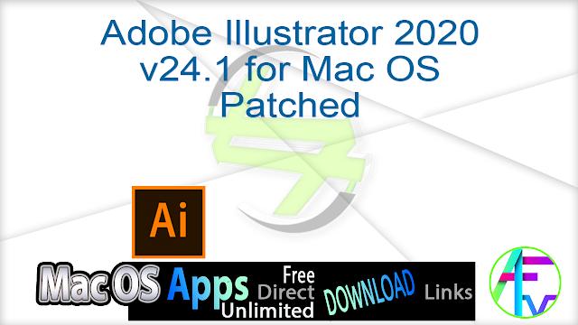 Adobe Illustrator 2020 v24.1 for Mac OS Patched