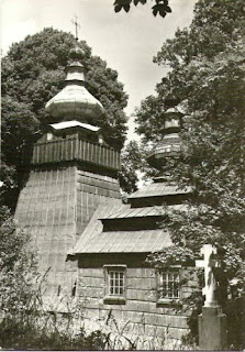 Cerkiew w Ropkach na pocztówce z 1972 r.