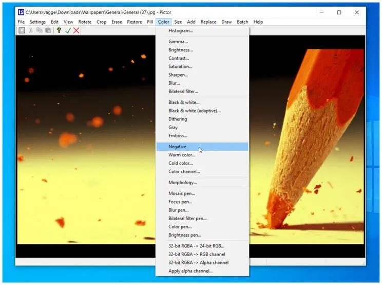 Pictor : Iσχυρό  αλλά απλό στη χρήση πρόγραμμα επεξεργασίας φωτογραφιών