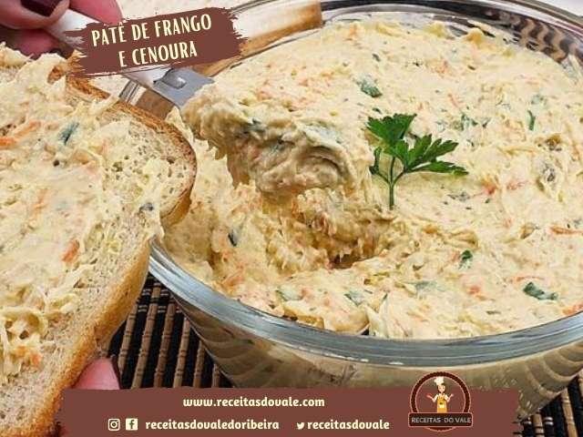Receita de Patê de Frango e Cenoura