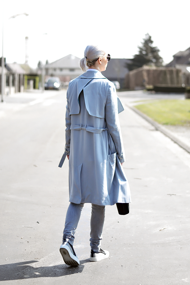 Grey trench coat, mac, asos, zara slip ons, spring, summer, outfit, trends