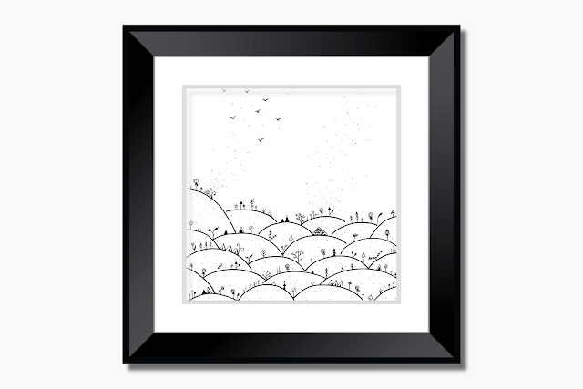 Landscape Doodle Artwork