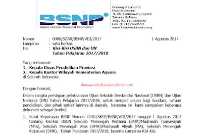 Download KISI-KISI USBN dan UN SMP/ MTs Tahun Pelajaran 2017-2018