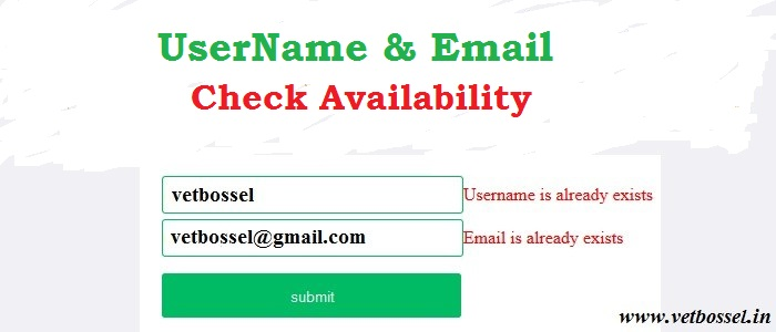 Check email availability