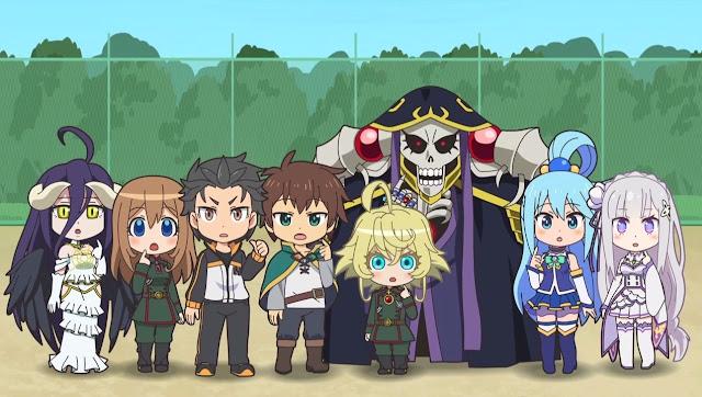 Anime Isekai Quartet tendrá segunda temporada