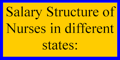 Salary Structure of Nurses in different states