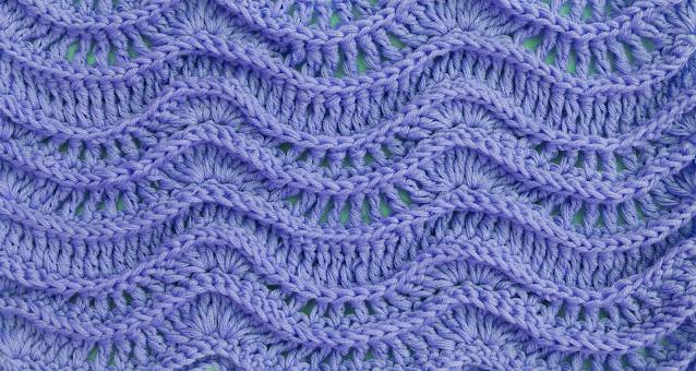 Crochet Imagen Puntada de ondas en relieve a crochet y ganchillo azul por Majovel Crochet