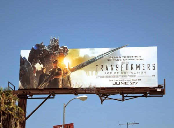 Transformers 4 Mark Wahlberg movie billboard