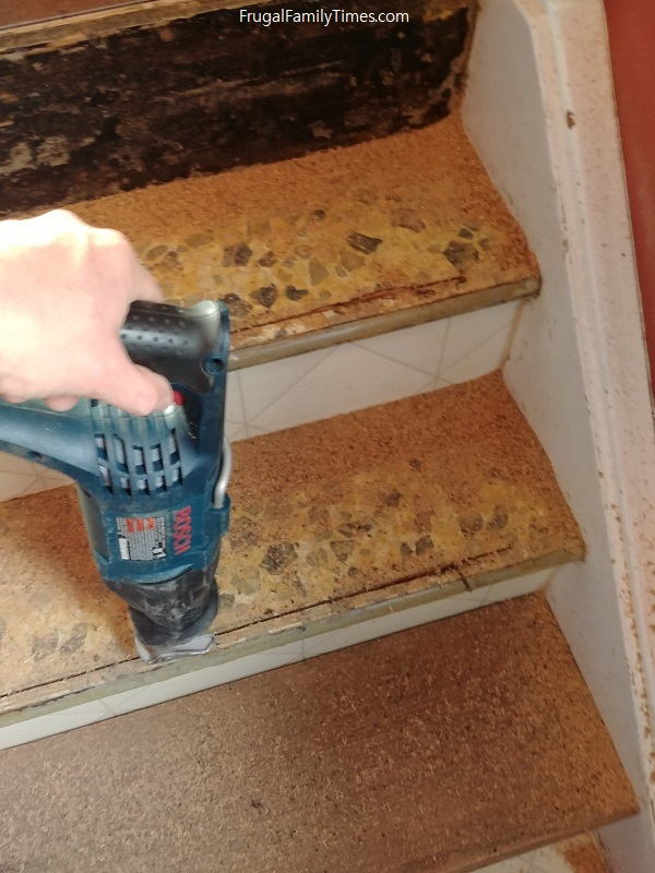 Replacing stair treads and risers