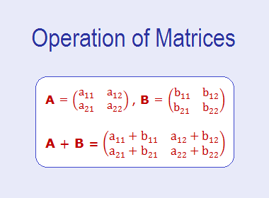 Operation of Matrices