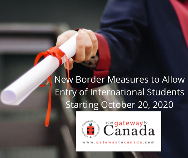 New Border Measures to Allow Entry of International Students Starting October 20, 2020