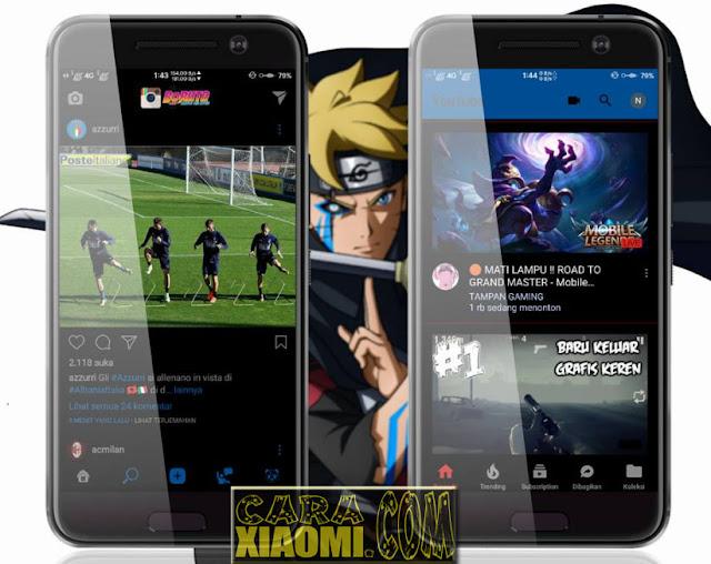 Download Thema Xiaomi Doujutsu Boruto Black Mtz For MIUI Terbaru