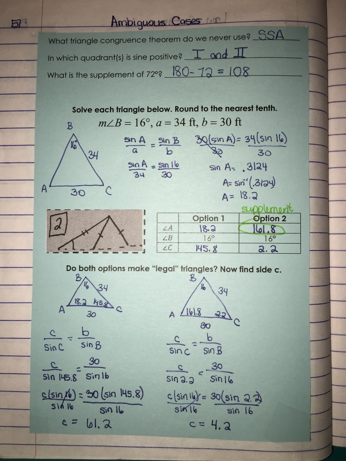 misscalcul8: Trig Unit 5: Law of Sines and Cosines ...