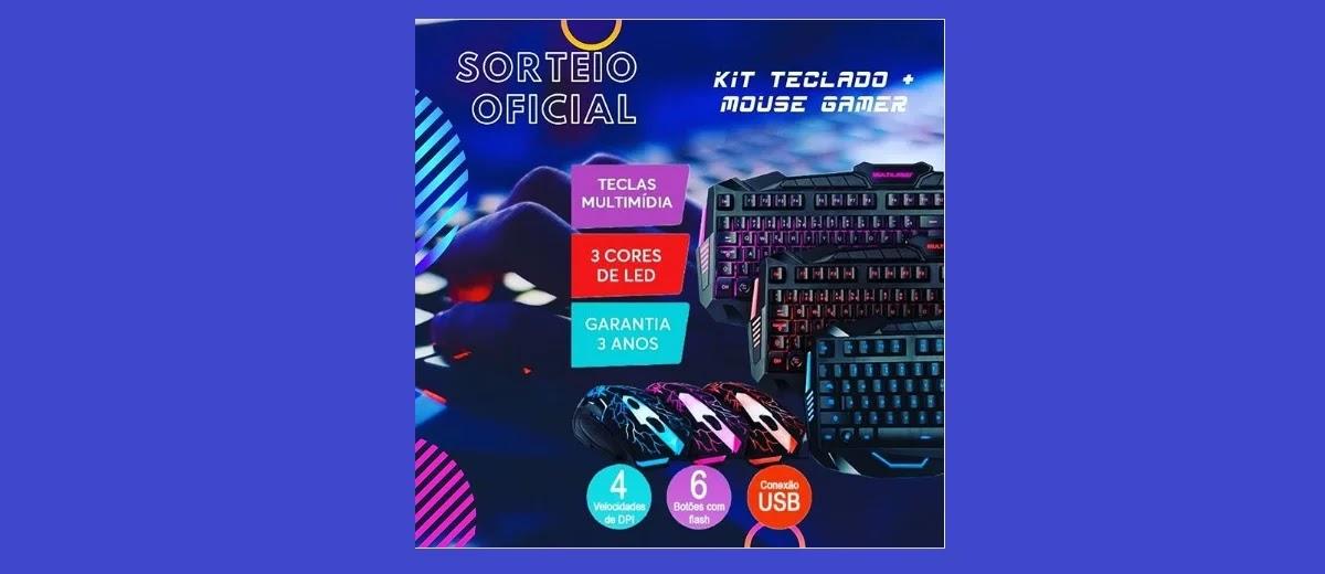 Sorteio Kit Teclado e Mouse GameGram