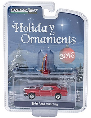 diecast 1970 ford mustang holiday ornaments greenlight