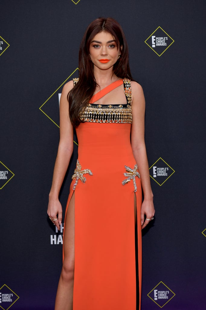 Sarah Hyland puts legs on show in double split gown at the 2019 People's Choice Awards