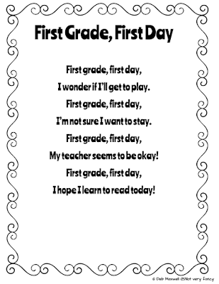 First Days of First Grade Plans and Poem (freebie!)